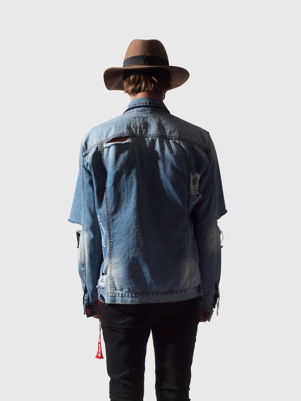 ERIS BLACK - BLUE DENIM JACKET