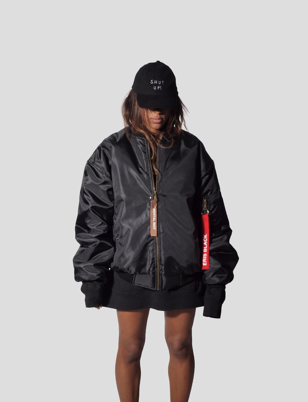 ERIS BLACK - BOMBER JACKET