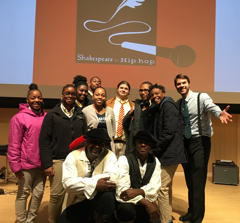 High school students passionate about spoken word and poetry had the opportunity to attend the Shakespeare to Hip Hop performance hosted by the Boston Public Library.