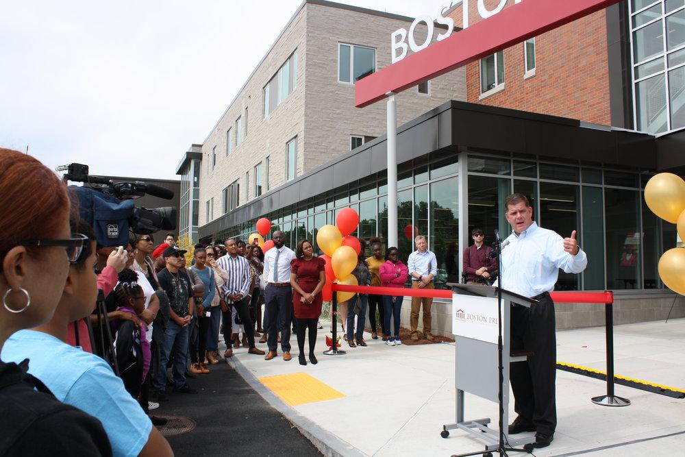 Boston Prep Ribbon Cutting.Mayor Walsh 3.JPG