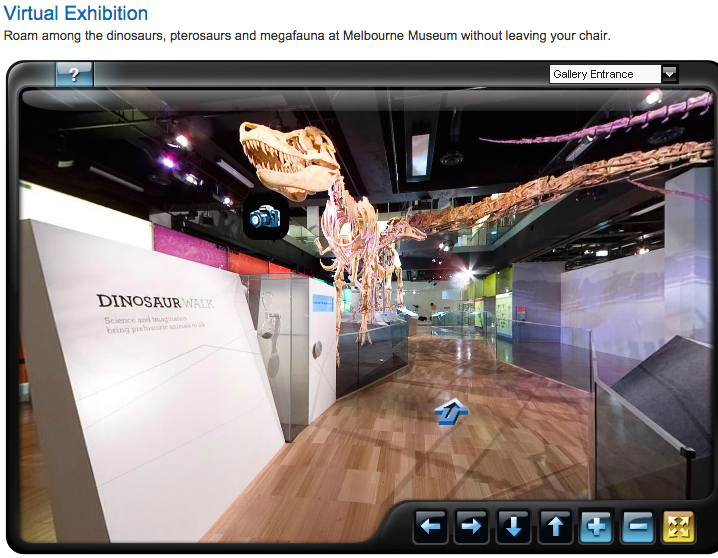 Screenshot taken from Melbourne Museum's virtual exhibition of the 'Dinosaur Walk'.