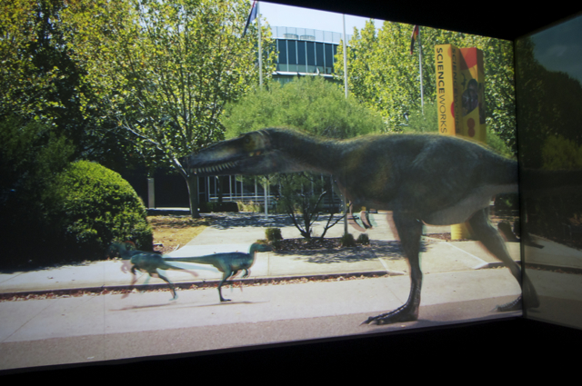 Dinos take over Spotswood. Photo by m4bubs.