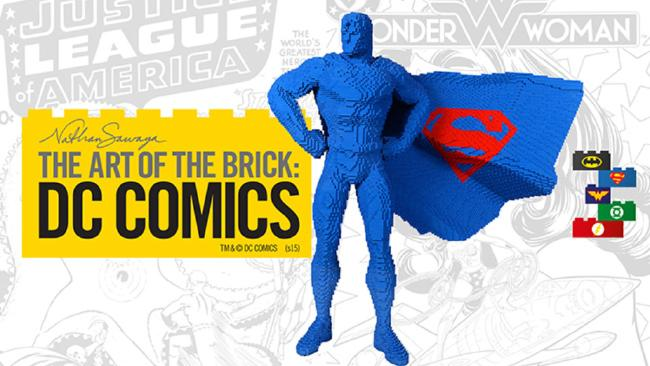 The Art of the Brick: DC Comics at the Powerhouse Museum - photo credit MA AS