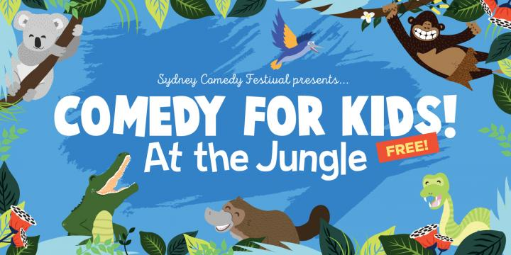 Comedy for Kids at the Jungle: Sydney Town Hall, photo credit: Sydney Comedy Festival