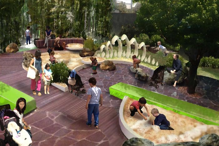 An artist's impression of the garden at Melbourne Museum's redeveloped Children's Gallery. (Credit: Museum Victoria taken from  SMH article dated 3rd August 2015 )