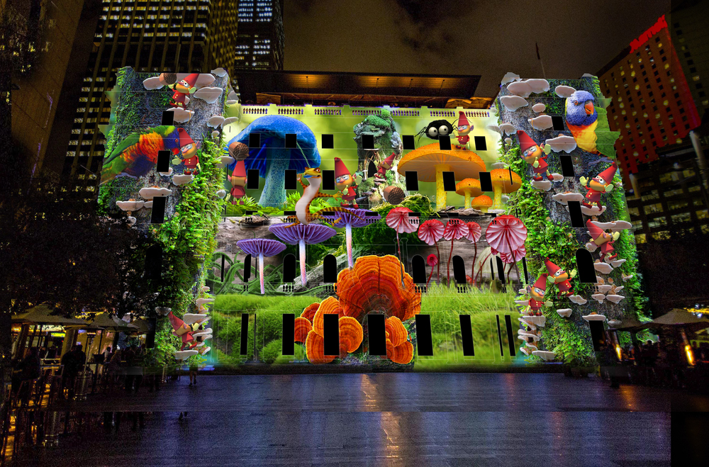 Sydney's Hidden Stories - Artist: Jason French (Australia) - Customs House - Vivid Sydney 2016 - photo credit: Vivid Sydney Website 2016