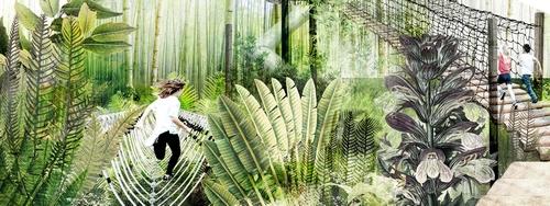 Design element: Bamboo Forest Illustration credit:Centennial Parklands