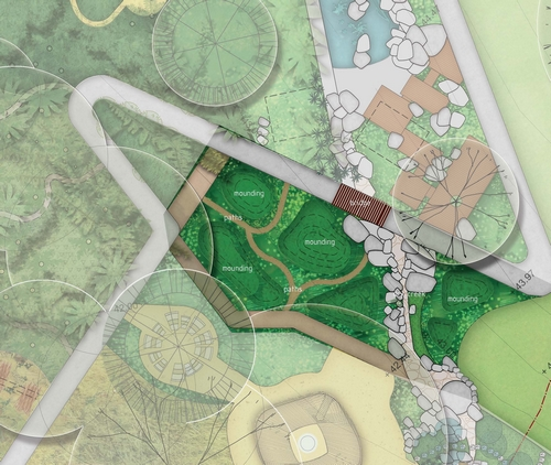Design element: Mounds Illustration credit:Centennial Parklands