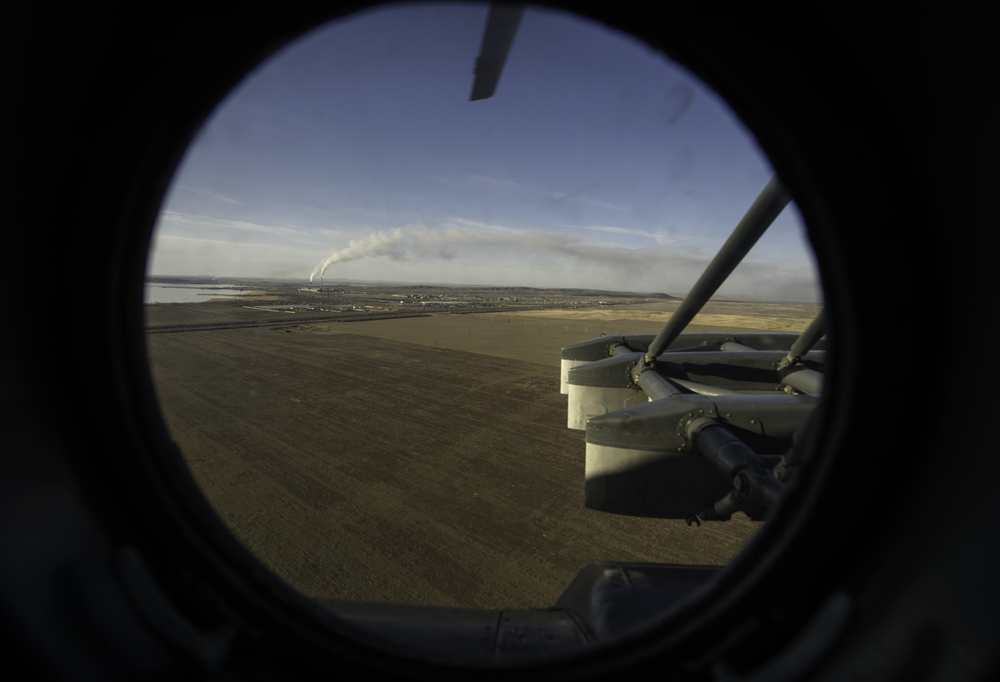 A view of the Kazakh steppe from the window of a Russian search and rescue helicopter en route to Zhezkazgan airport in Kazakhstan, Sunday, Nov. 10, 2013, a day ahead of the scheduled landing of the Soyuz TMA-09M spacecraft with Expedition 37 Commander Fyodor Yurchikhin of the Russian Federal Space Agency (Roscosmos), Flight Engineer Karen Nyberg of NASA and Flight Engineer Luca Parmitano of the European Space Agency. Yurchikhin, Nyberg and Parmitano are returning to Earth after five and a half months on the International Space Station. (NASA/Carla Cioffi)