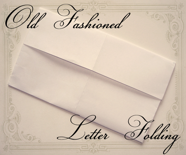 Old fashioned letter folding — VectoriaDesigns