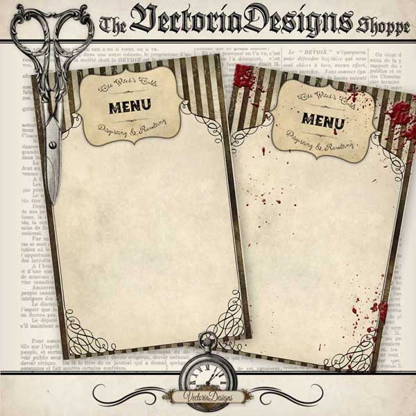 Halloween Menu Cards - 2 designs