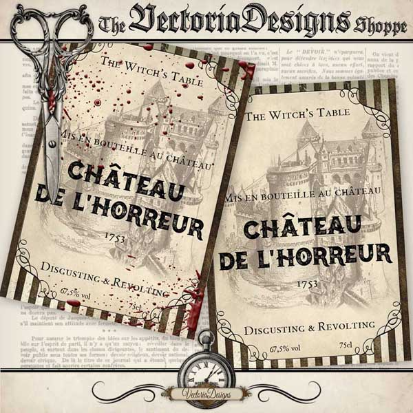 Halloween Wine Labels - 2 designs