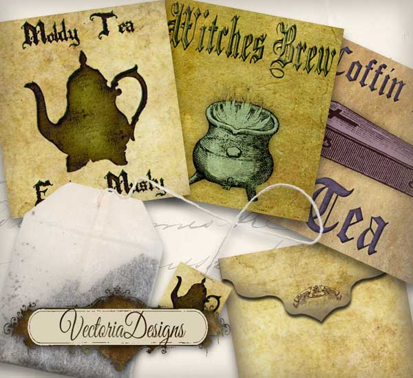 Halloween Tea Bag Envelopes - 3 designs