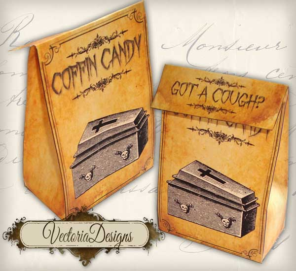"""Coffin Candy"" Favor Bag"