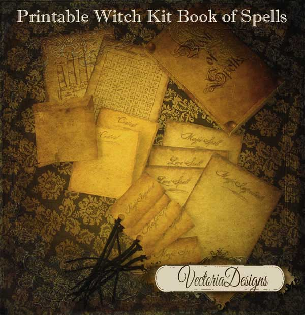 Witch's Book of Spells Kit - Fun Little Kit