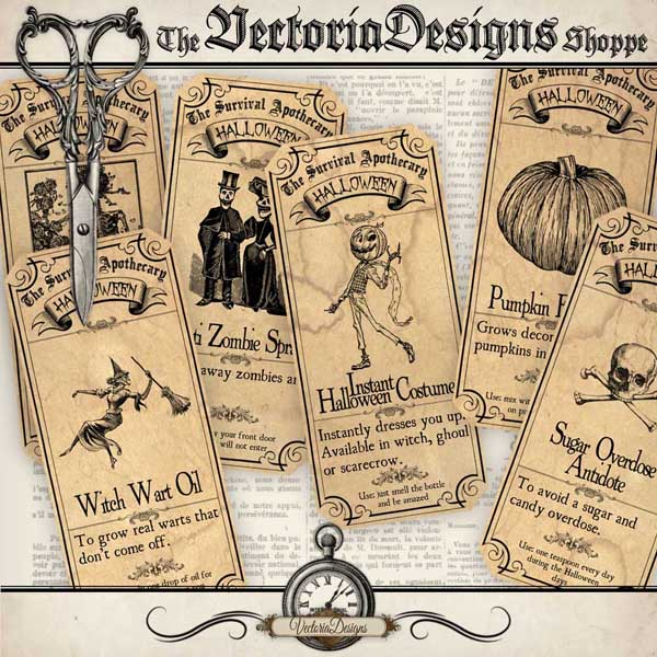 Survive Halloween Labels - 6 labels