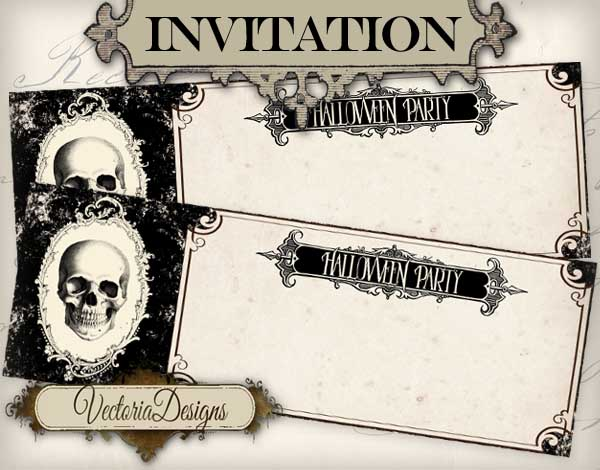 Blank Halloween Invitation Ticket