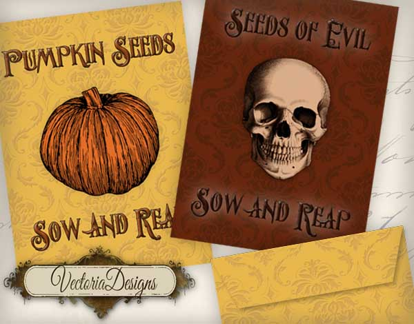 Halloween Seed Packets - 2 seed packets