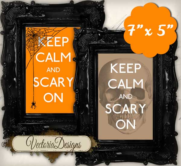 "Halloween ""Keep Calm"" Mini Posters - 4 Mini Posters"