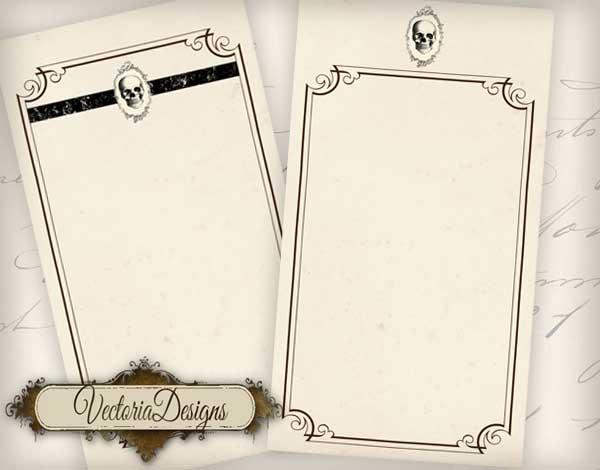 Halloween Menu Cards - 4 Cards
