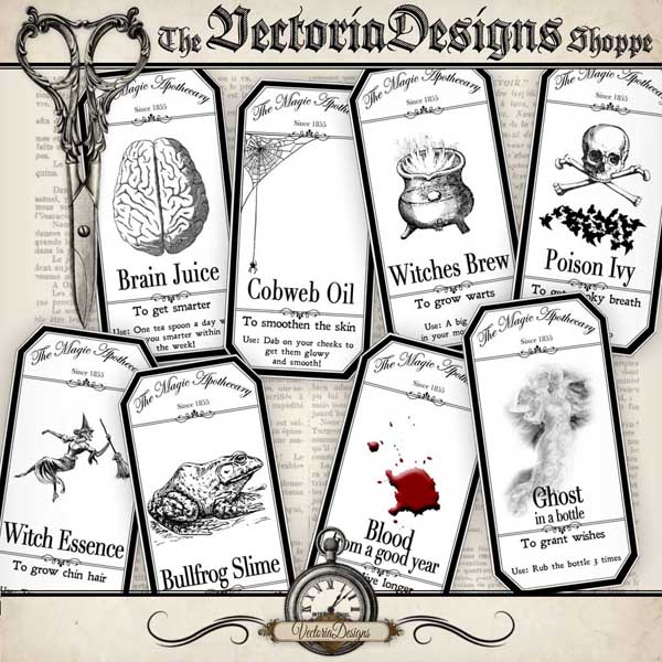 VDLAHA0905 Halloween Apothecary Labels shopify promo 1.jpg