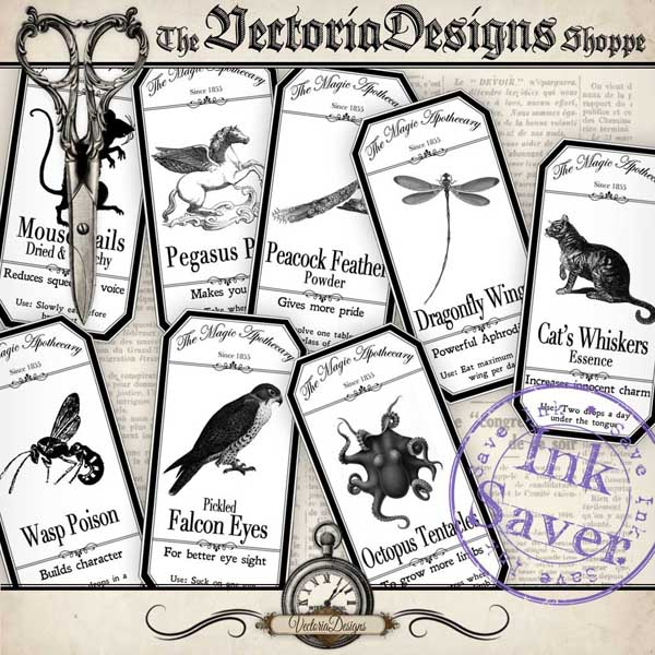 VDLAHA0906 Magic Animals Apothecary Labels shopify promo 1.jpg