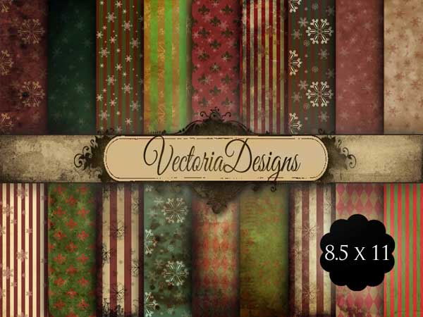 VD0557 Grunge Christmas Papers promo 1.jpg