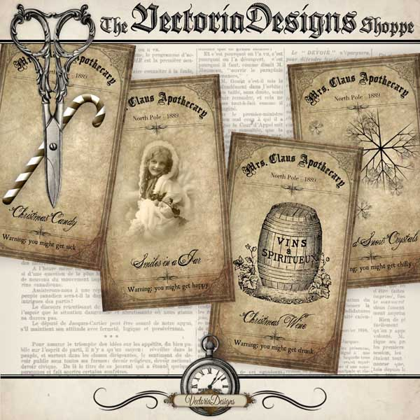 VD0262 Christmas Apothecary Labels shopify promo 1.jpg