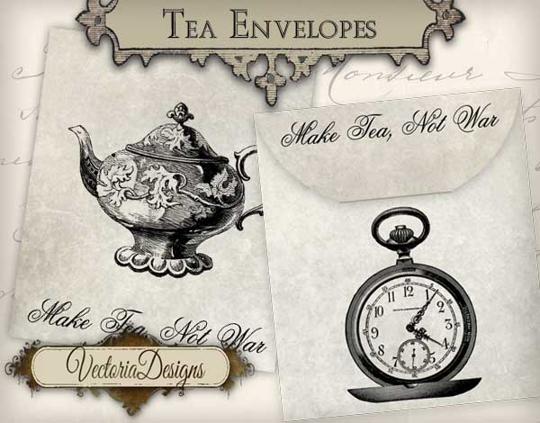 VD0607 Make Tea Not War Envelope promo 1.jpg