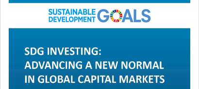 18 July 2017 - United Nations Head Quarters, New York, United States of America    During the SDG Business Forum the publication of SDG Investing: Advancing a New Normal in Global Capital Markets will be presented by Carolien de Bruin. The report is now available for reading, to go to the full report go  here .  This report, which was commissioned by the Department of Economic and Social Affairs of the United Nations (UN-DESA), seeks to contribute to the ongoing and expanding discussion on how to increase and optimize the involvement of the private sector in financing sustainable development.