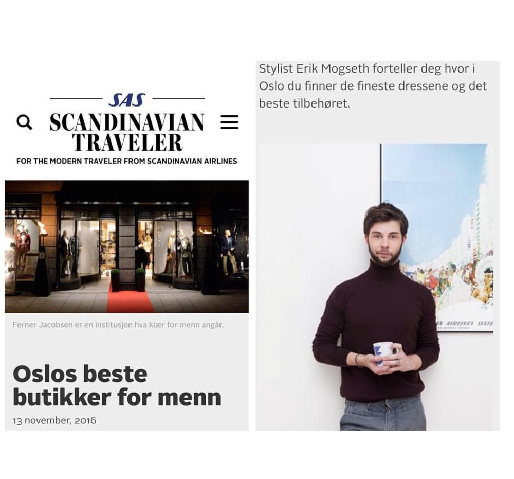 Portrettet mitt av stylist Eirik Mogseth i Sas Magasinet med den utrolig kule Sas plakaten i bakgrunnen :)