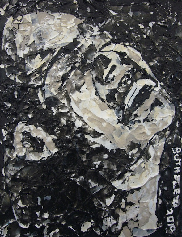 Mbongeni Buthelezi, Sky is the limit, 2010, plastic on plastic, 70x55cm, courtesy of Seippel Gallery Cologne Johannesburg.jpg