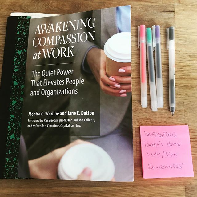 sunday morning study // awakening compassion @ work 🤓🙌❤️
