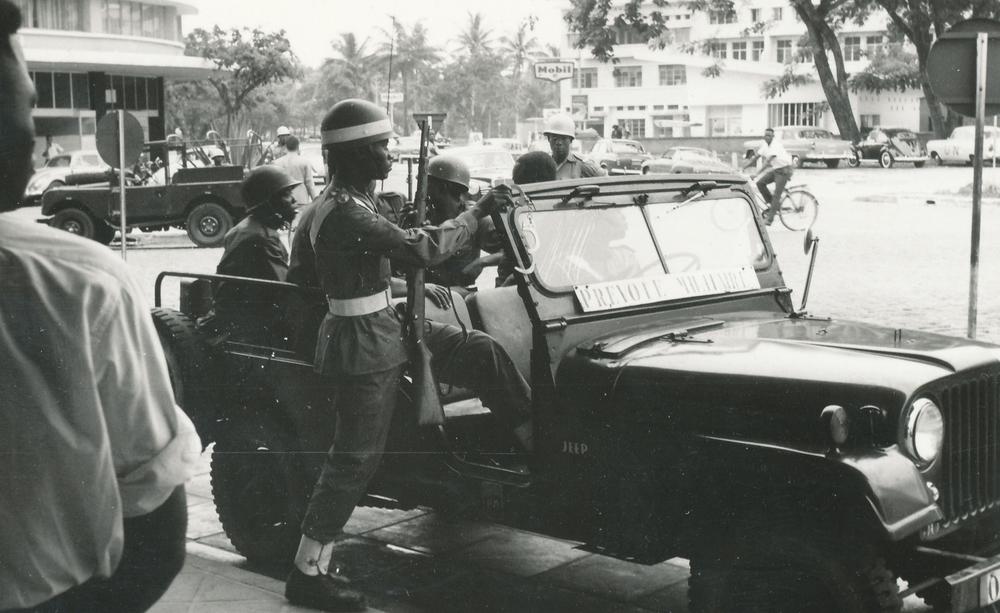 Soldater ur Armée National Congolaise (ANC) i Leopoldville 1960.