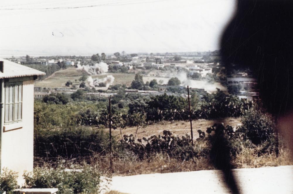 Granatnedslag ca 400 meter söder om Hill 88.