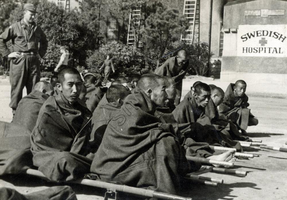 Nordkoreanska krigsfångar. Foto: Gerhard Rundberg.
