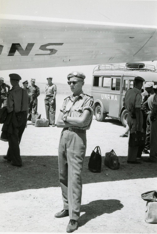 Korpral Per-Åke Strandin i Gaza 1959.