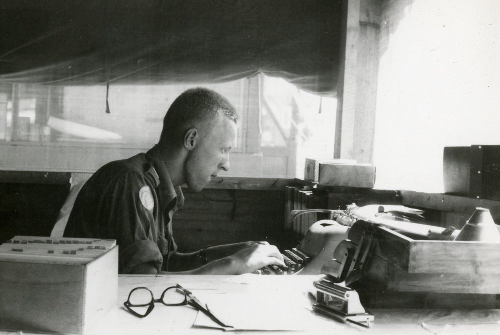 Korpral Per-Åke Strandin på VI:e FN-bataljonens underhållssektion.
