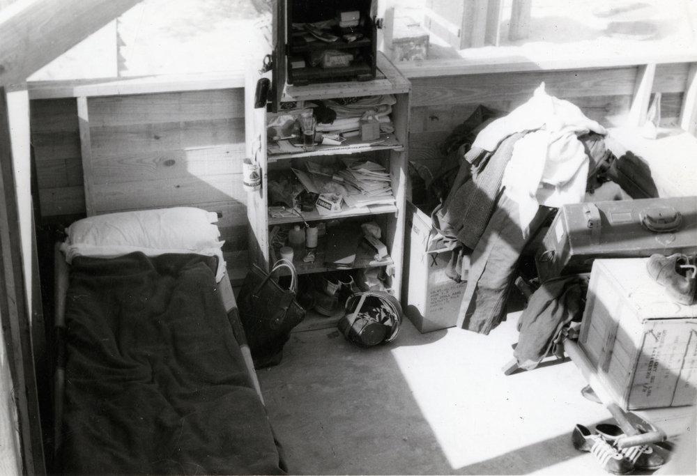 Från den svenska campen i Gaza. Ur Per-Åke Strandins arkiv.