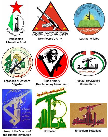 Logos de organizaciones terroristas