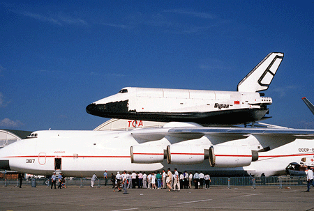 Buran on the Antonov An-225.