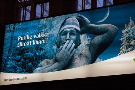Lyhdynkantajat. Helsinki Railway Station. Finland, Suomi.