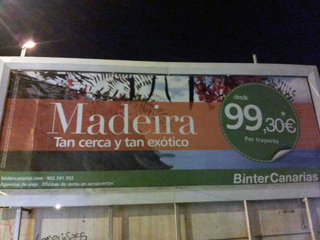 Vuelos a Madeira desde 99'30€.
