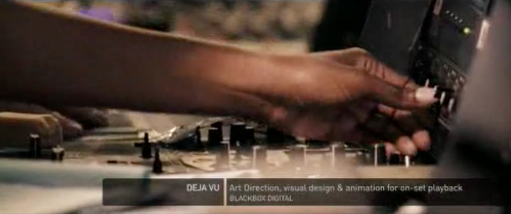 Ejemplo extraído de la película 'Deja Vu' donde podemos observar este tipo de inputs clásicos
