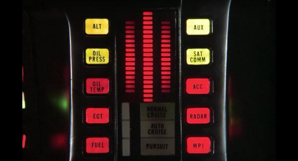 Interfaz de la serie 'El Coche Fantástico'