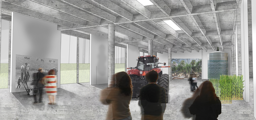 Rendering of industrial and agricultural exhibit