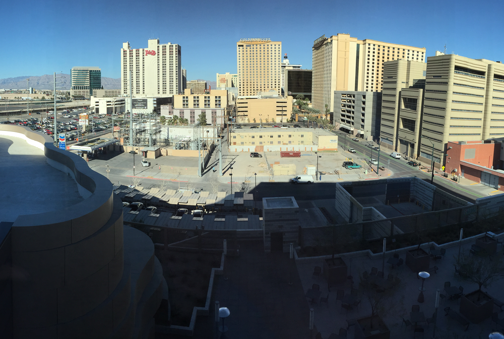 View of site #1 from 5th floor of Las Vegas City Hall