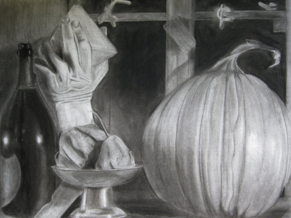 "Charcoal on 24""x36"" Strathmore 400 Series Medium Surface 80# - Fall 2010"