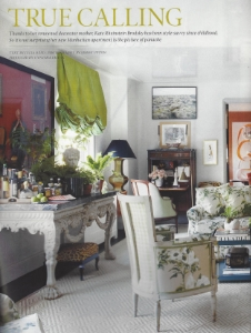 "May 2015    Elle Decor, ""True Calling""    Designer: Kate Rheinstien Brodsky    Gracie Chinoiserie"