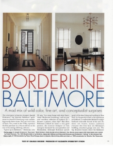 "June-July 1995  Elle Decor, ""Borderline Baltimore""  Designer: Joseph Holtzman"